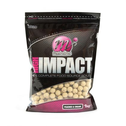 Mainline Baits Peaches and Cream High Impact Boilies: click to enlarge
