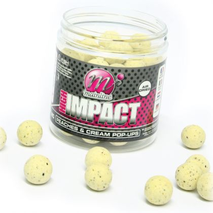 Mainline Baits Peaches and Cream High Impact Pop-ups: click to enlarge